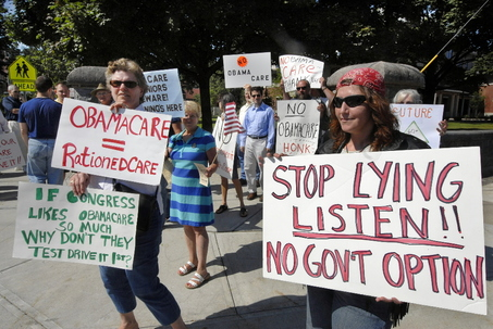 anti Health care reform protest
