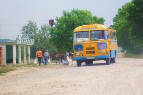 Street scene in Moldova