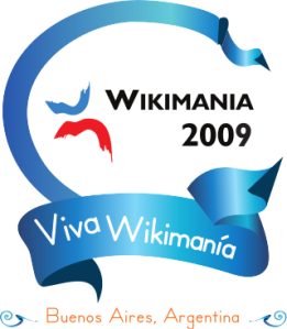 Logo of Wikimania 2009 in Buenos Aires