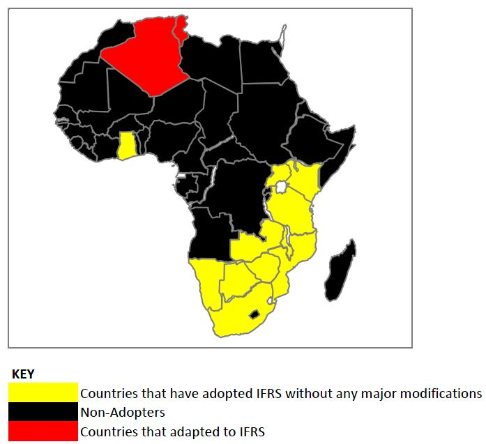 Current Map Of Africa Countries.The State Of Ifrs In Africa Is Ifrs In Disarray