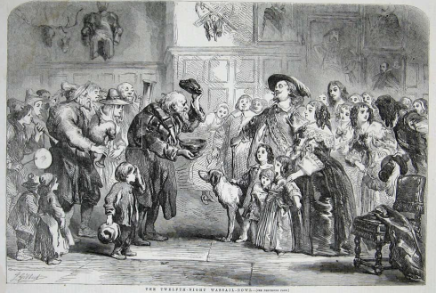 Wassail in 1850 in Britain
