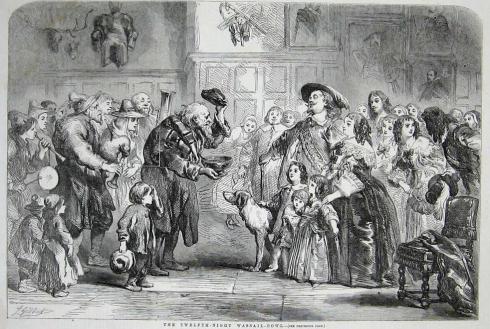 Wassail in 1850 in Britain